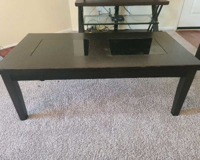Brown Coffee Table w/ End Table