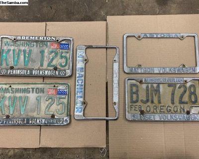 Old VW dealership license plate frames