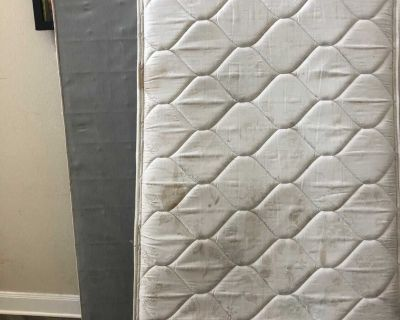 Full mattress and box spring include