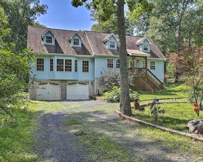 Home w/ Hot Tub, Fire Pit, Koi Pond: Walk to Lake! - Henryville