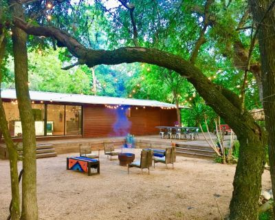 The Steel Haus is an Architect designed Riverfront home - Atascosa