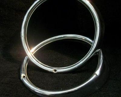 Used Pair Hella SB12 Headlight Rings 1967