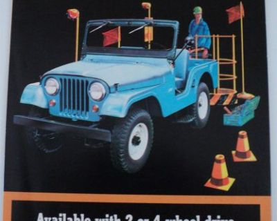 1964 Jeep Universal 4wd Cj5 Cj6 2wd Dj5 Dj6 Sales Brochure Kaiser