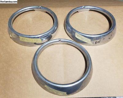 NOS 311941175 Headlight Trim Ring Chrome