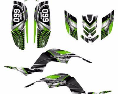 Raptor 660 660r Graphics Decal Sticker Kit #7777 Green