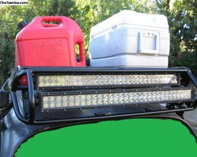 Baja Bug Roofrack with LED light bars