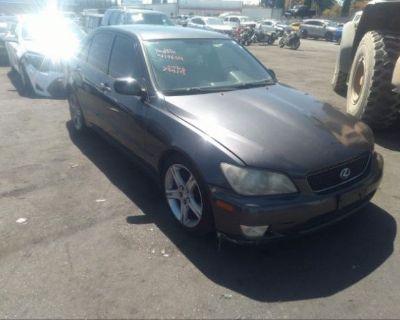 Salvage Gray 2002 Lexus Is 300