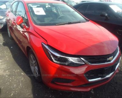 Salvage Red 2017 Chevrolet Cruze