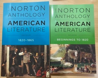 New - The Norton Anthology of American Literature