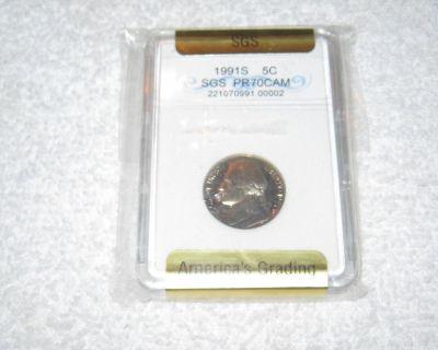 1991S SGS Jefferson Nickel