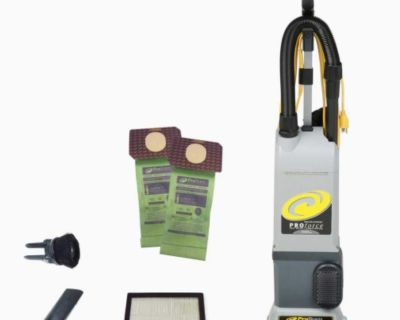 Commercial Upright Vacuum Cleaner Bagged ProTeam ProForce 1500XP W/On-Board Tools,Corded,Filtration