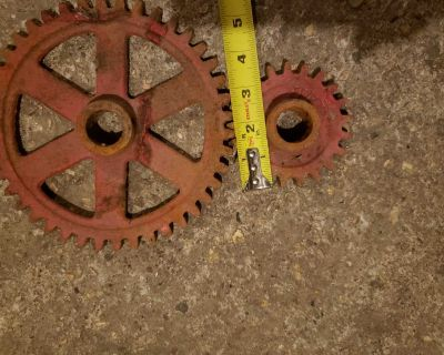 Antique set of gears