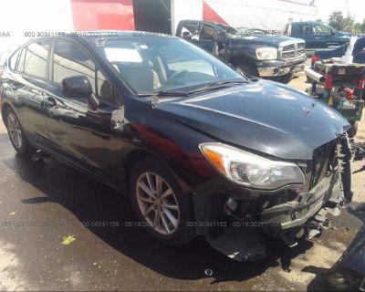 Salvage Black 2013 Subaru Impreza Wagon