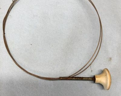 Oval hood release