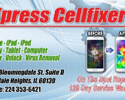 XPRESS CELLFIXERS *cell phone repair shop*Iphone*samsung *ipad cracked screen repair