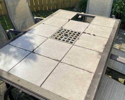 Outdoor table with 6 chairs, $50.00