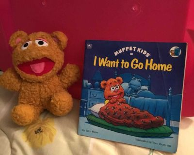 Muppet Kids I Want to go Home book & 8 Baby Fozzie plush Combo