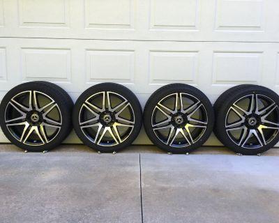 "19"" Mercedes Genuine AMG SL550 White Arrow Edition wheels Falken tires TPMS W213 E450"