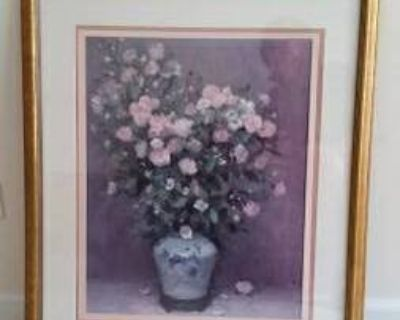 Picture - Gold Framed Floral Arrangement - From Bombay and Co.