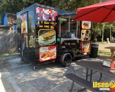 2020 - 7' x 12' Black Diamond Street Food and Coffee Concession Trailer