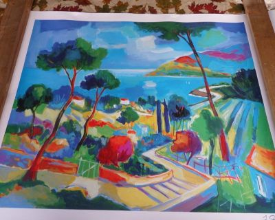 """SIGNED Jean-Claude Picot """"L'ESCALIER A THEOULE"""" seriolithograph Print only"""