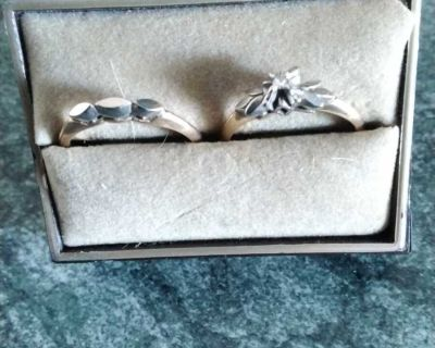 Set of engagement and wedding rings 700,00 0b0