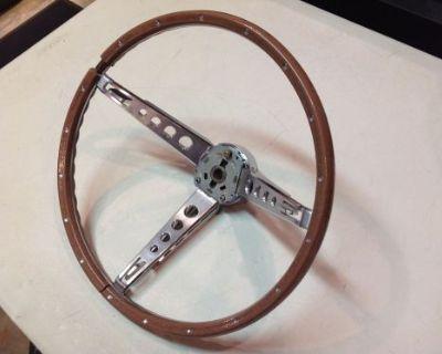 1964 1965 1966 1967 1968 1969 Ford Mustang Deluxe Steering Wheel & Horn Bar Oem