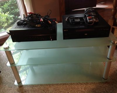 Tempered Glass Entertainment Center........Super Condition!!
