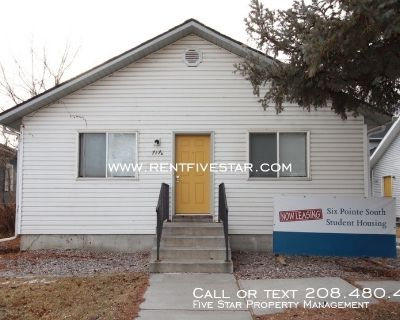 Student Housing!!! Enjoy a private bedroom that shares a double sink vanity, bathroom, and shower with two other roommates. A large kitchen, dining room, living area, washer & dryer, and pantry is the common area for a total of six roommates. This home is