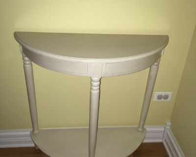 Demilune Entry table, half moon side table, girl s bedroom table