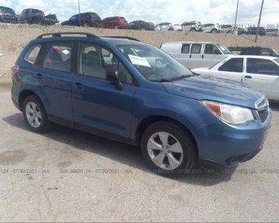Salvage Blue 2015 Subaru Forester
