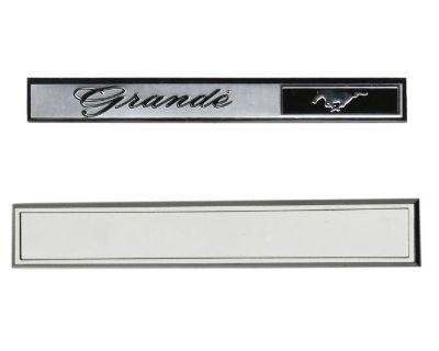 69-70 Mustang Grande Dash Emblem And Bezel Set