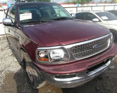 Salvage Burgundy 1998 Ford Expedition