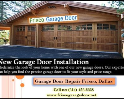 Commercial New Garage Door Installation and Replacement ($25.95) Frisco, TX