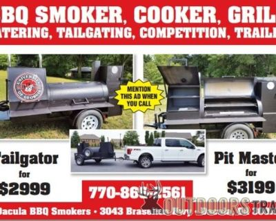 FS/FT Start a BBQ Business BBQ Smoker Grill Cooker on Wheels Concession Kitchen Trades