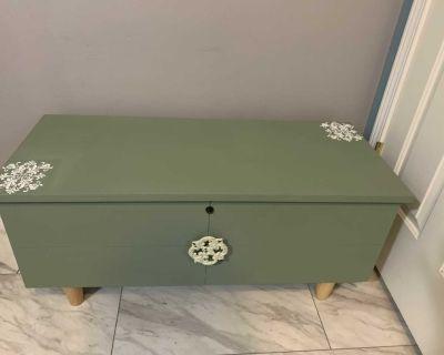 Refurbished antique cedar chest