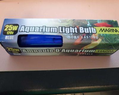 Aquarium blue light bulb