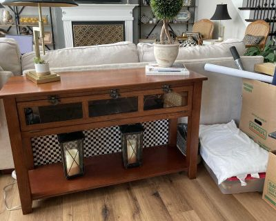 4 Piece Wood Family Room Table Set