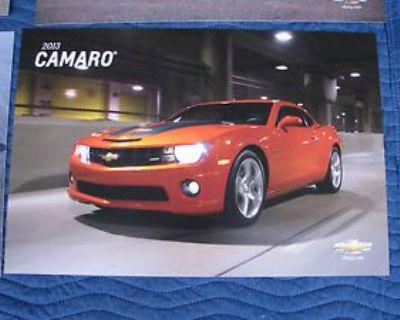Nos 2013 Camaro Dealer Showroom Poster Set Corvette Ss Impala Volt Malibu Hevy
