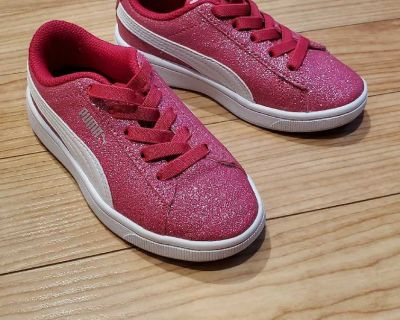 Puma sneakers, sparkly pink