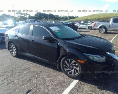 Salvage Black 2017 Honda Civic Sedan