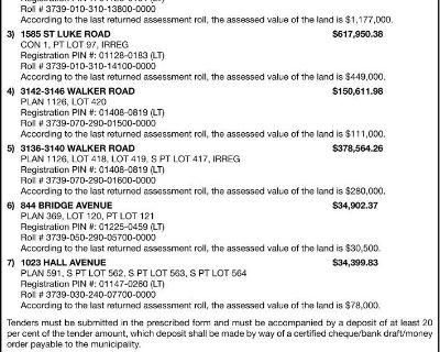 SALE OF LAND BY PUBLIC TENDER ...