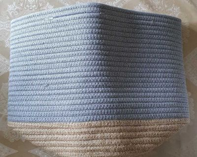 Rope Cotton Basket with Handles ( NOTE CROSSPOSTED)