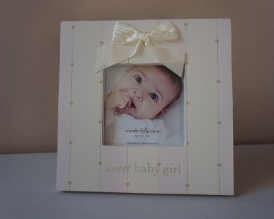 Sweet Baby Girl Picture Frame by Wendy Bellissimo