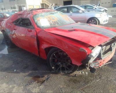 Salvage Red 2009 Dodge Challenger