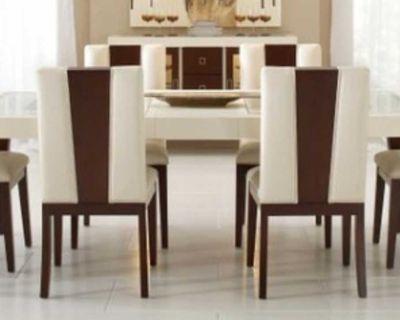 Lightly used Sofia Vergara 7 piece dining room set