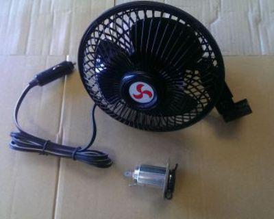 Golf Cart Fan | Universal | Socket Included 6 Inch | Ezgo | Club Car | Yamaha
