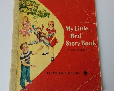 My Little Red Story Book - vintage, Ginn Reader, some stains, great little stories