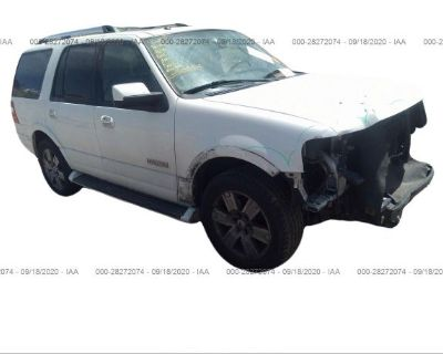 Salvage White 2008 Ford Expedition