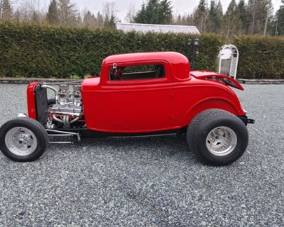 1932 Ford Model A 2-door 3-Window All-Steel Chopped Coupe Hi-Boy